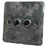Flat Plate Rustic Toggle Light Switches
